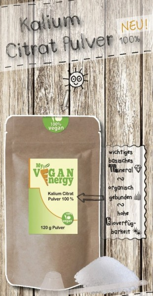 Kalium Citrat Pulver 100% | MY VEGAN ENERGY | shop.oelfee.de