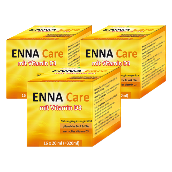 ENNA Care® mit VITAMIN D3, DHA & EPA  | 3er-SET Angebot ! | shop.oelfee.de | Adrisan