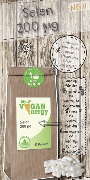 MY VEGAN ENERGY | Selen 200 µg | shop.oelfee.de